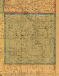 Monroe, Iowa 1871 Old Town Map Custom Print - Mahaska Co.