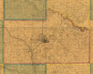 Oskaloosa, Iowa 1871 Old Town Map Custom Print - Mahaska Co.