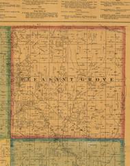 Pleasant Grove, Iowa 1871 Old Town Map Custom Print - Mahaska Co.