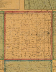 Prairie, Iowa 1871 Old Town Map Custom Print - Mahaska Co.