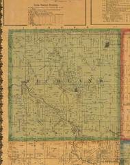 Richland, Iowa 1871 Old Town Map Custom Print - Mahaska Co.
