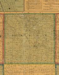Union, Iowa 1871 Old Town Map Custom Print - Mahaska Co.