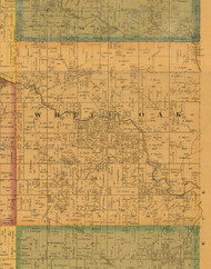 White Oak, Iowa 1871 Old Town Map Custom Print - Mahaska Co.