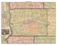 Lewiston, New York 1852 Old Town Map Custom Print - Niagara Co.