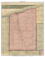 Newfane, New York 1852 Old Town Map Custom Print - Niagara Co.