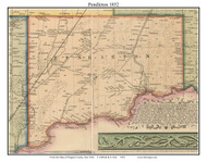 Pendleton, New York 1852 Old Town Map Custom Print - Niagara Co.
