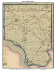 Wheatfield, New York 1852 Old Town Map Custom Print - Niagara Co.