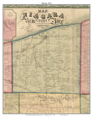 Wilson, New York 1852 Old Town Map Custom Print - Niagara Co.