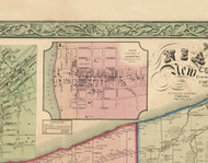 Lewiston Village, New York 1852 Old Town Map Custom Print - Niagara Co.