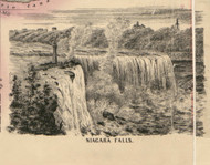 Niagara Falls, New York 1852 Old Town Map Custom Print - Niagara Co.