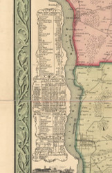 Statistics, Niagara County, New York 1852 Old Town Map Custom Print - Niagara Co.