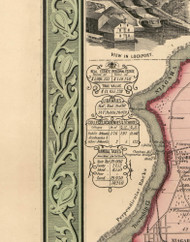 Statistics con't., Niagara County, New York 1852 Old Town Map Custom Print - Niagara Co.