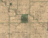 Linn, Iowa 1896 Old Town Map Custom Print - Marshall Co.