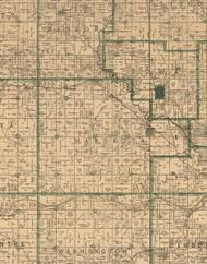 Marietta, Iowa 1896 Old Town Map Custom Print - Marshall Co.