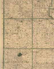 Minerva, Iowa 1896 Old Town Map Custom Print - Marshall Co.