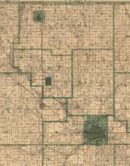 Taylor, Iowa 1896 Old Town Map Custom Print - Marshall Co.