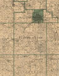 Timber Creek, Iowa 1896 Old Town Map Custom Print - Marshall Co.