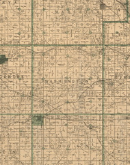 Washington, Iowa 1896 Old Town Map Custom Print - Marshall Co.