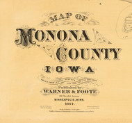 Title of Source Map - Monona Co., Iowa 1884 - NOT FOR SALE - Monona Co.