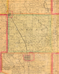 Ashton, Iowa 1884 Old Town Map Custom Print - Monona Co.