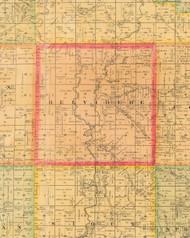 Belvidere, Iowa 1884 Old Town Map Custom Print - Monona Co.