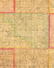 Center, Iowa 1884 Old Town Map Custom Print - Monona Co.