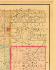 Cooper, Iowa 1884 Old Town Map Custom Print - Monona Co.