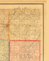 Cooper, Iowa 1884 Old Town Map Custom Print - Monona Co.