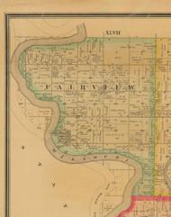 Fairview, Iowa 1884 Old Town Map Custom Print - Monona Co.