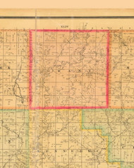 Grant, Iowa 1884 Old Town Map Custom Print - Monona Co.