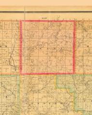 Grant, Iowa 1884 Old Town Map Custom Print - Monona Co.