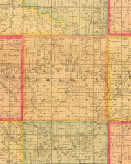 Jordan, Iowa 1884 Old Town Map Custom Print - Monona Co.