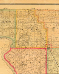 Lake, Iowa 1884 Old Town Map Custom Print - Monona Co.