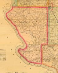 Lincoln, Iowa 1884 Old Town Map Custom Print - Monona Co.