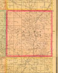 Saint Clair, Iowa 1884 Old Town Map Custom Print - Monona Co.