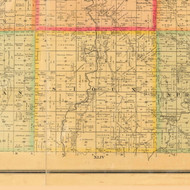 Sioux, Iowa 1884 Old Town Map Custom Print - Monona Co.
