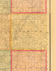 Soldier, Iowa 1884 Old Town Map Custom Print - Monona Co.
