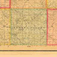 Spring Valley, Iowa 1884 Old Town Map Custom Print - Monona Co.