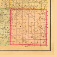 Willow, Iowa 1884 Old Town Map Custom Print - Monona Co.