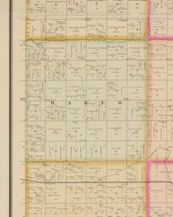 Baker, Iowa 1884 Old Town Map Custom Print - O'Brien Co.