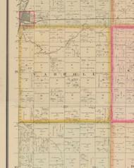 Carroll, Iowa 1884 Old Town Map Custom Print - O'Brien Co.