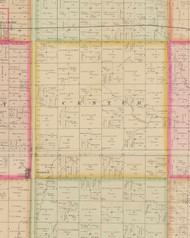 Center, Iowa 1884 Old Town Map Custom Print - O'Brien Co.