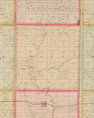 Dale, Iowa 1884 Old Town Map Custom Print - O'Brien Co.