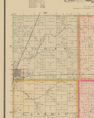 Floyd, Iowa 1884 Old Town Map Custom Print - O'Brien Co.