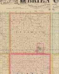 Franklin, Iowa 1884 Old Town Map Custom Print - O'Brien Co.