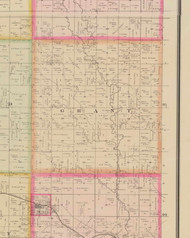 Grant, Iowa 1884 Old Town Map Custom Print - O'Brien Co.