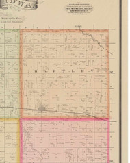 Hartley, Iowa 1884 Old Town Map Custom Print - O'Brien Co.