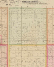 Lincoln, Iowa 1884 Old Town Map Custom Print - O'Brien Co.