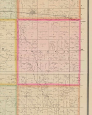 Omeg, Iowa 1884 Old Town Map Custom Print - O'Brien Co.
