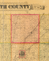 Elgin, Iowa 1884 Old Town Map Custom Print - Plymouth Co.